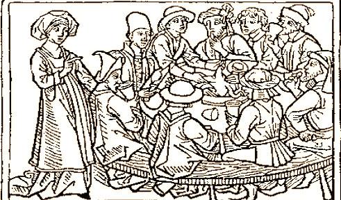 Krapfen farciti con formaggio, uova e lardo (1350)